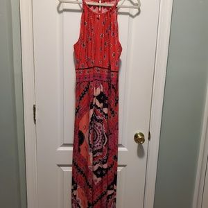 Colorful summer maxi dress